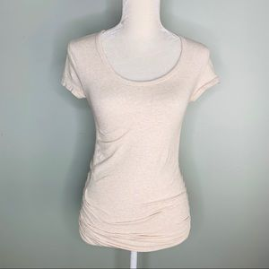 Athleta Shirt Pure Tee Ruched Athletic XS Cap